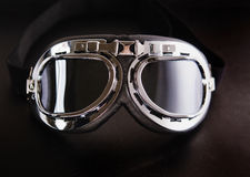 Retro vintage motorbike goggles Stock Photography