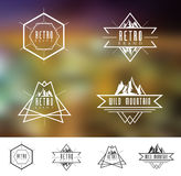 Retro Vintage Mountain Logo Royalty Free Stock Photos