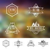 Retro Vintage Mountain Logo vector illustration