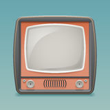 Retro Vintage Old TV Placeholder Frame Icon Realistic 3d Flat Design Template Vector Illustration Stock Photography