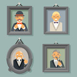 Retro Vintage Photo Frames Wealthy Victorian Gentleman  Stock Photography