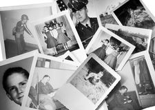 Retro/vintage photos. A black and white collection of photos from the 1950's and 60's. This group includes some military shots from the Vietnam era royalty free stock photography