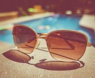 Retro Vintage Pool Sunglasses Stock Photography