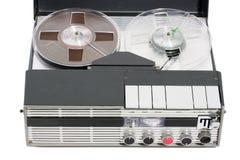 Retro vintage portable tape recorder Stock Images