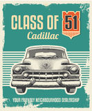 Retro vintage poster - metal sign design Stock Photography