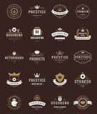 Retro Vintage Premium Quality Labels Royalty Free Stock Image