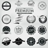 Retro Vintage Premium Quality Labels set. Retro Vintage 100 guaranteed Premium Quality Labels set stock illustration