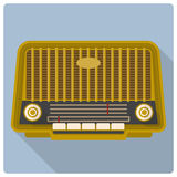 Retro vintage radio vector icon Stock Photos