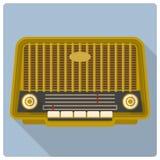 Retro vintage radio vector icon Stock Photos