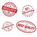 Retro vintage red stamps. Eps 10 Stock Photos