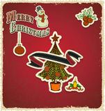 Retro vintage retro vintage christmas tree seasons Royalty Free Stock Photography