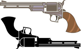Retro vintage revolver Royalty Free Stock Photo