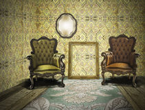 Retro and vintage room Royalty Free Stock Photography