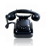 Retro vintage rotary telephone isolated Royalty Free Stock Photo
