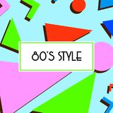 Retro vintage 80s or 90s fashion style abstract pattern background. Good for textile fabric design, wrapping paper and website wallpapers. Vector illustration Stock Images