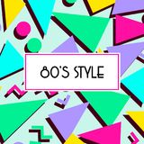 Retro vintage 80s or 90s fashion style abstract pattern background. Good for textile fabric design, wrapping paper and website wallpapers. Vector illustration Royalty Free Stock Image