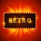 Retro Vintage Sign royalty free illustration