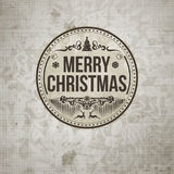 Retro vintage simple Merry Christmas  greeting green card Royalty Free Stock Photography