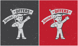 Retro vintage special offer banner Royalty Free Stock Image