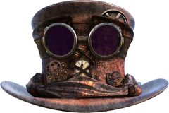 Free Retro Vintage Steampunk Hat Isolated Stock Image - 165413791