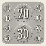 Retro Vintage style Birthday greeting card collection. Stock Photo