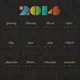 Retro vintage style calendar design. Royalty Free Stock Image