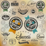 Retro vintage style, hand lettering Royalty Free Stock Photography