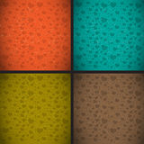 Retro vintage style heart textured background set Stock Image