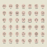 Retro Vintage style Icon collection. Stock Photography