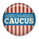 Retro or Vintage Style Iowa Caucus Campaign Election Pin Button or Badge Stock Photos