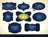 Retro vintage style label Stock Photo