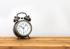 Retro and vintage style of Old fashioned the alarm clock Stock Photography
