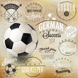 Retro vintage style soccer emblem collection. Stock Image