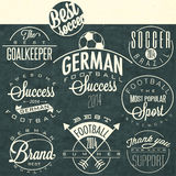 Retro vintage style soccer emblem collection Stock Image