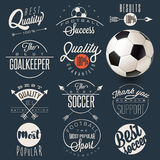 Retro vintage style soccer emblem collection. Royalty Free Stock Images