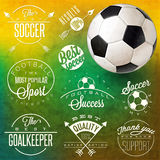 Retro vintage style soccer emblem collection. Royalty Free Stock Photography