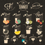 Retro vintage style Soft Drinks design. Stock Photo