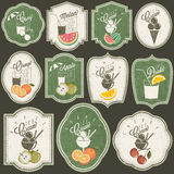 Retro vintage style Soft Drinks and Ice Creams design. Royalty Free Stock Photo