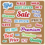 Retro vintage style speech sticker. Royalty Free Stock Photography