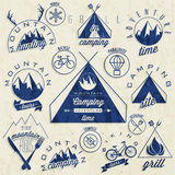 Retro vintage style symbols for Mountain Expeditio Stock Photography