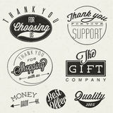 Retro vintage style typographic titles and symbols. Royalty Free Stock Images