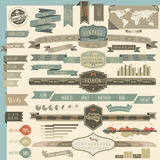 Retro vintage style website elements Stock Photo