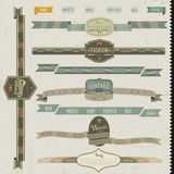 Retro vintage style website elements Stock Image