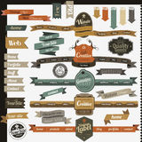 Retro vintage style website elements Royalty Free Stock Images