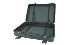 Retro Vintage Suitcase (isolated) Stock Images