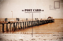 Retro vintage Summer Holidays Vacation postcard Stock Photography