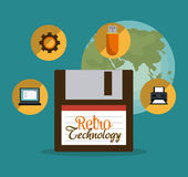 Retro and vintage technology graphic Royalty Free Stock Image