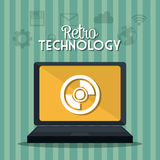 Retro and vintage technology graphic Royalty Free Stock Photography