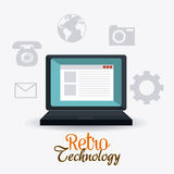 Retro and vintage technology graphic Stock Image