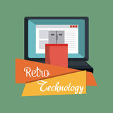 Retro and vintage technology graphic Royalty Free Stock Images